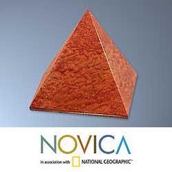 Jasper 'Pyramid of Dreams' Sculpture (Peru)
