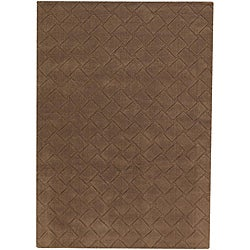 Hand-tufted Mandara Brown New Zealand Wool Rug (9' x 13')