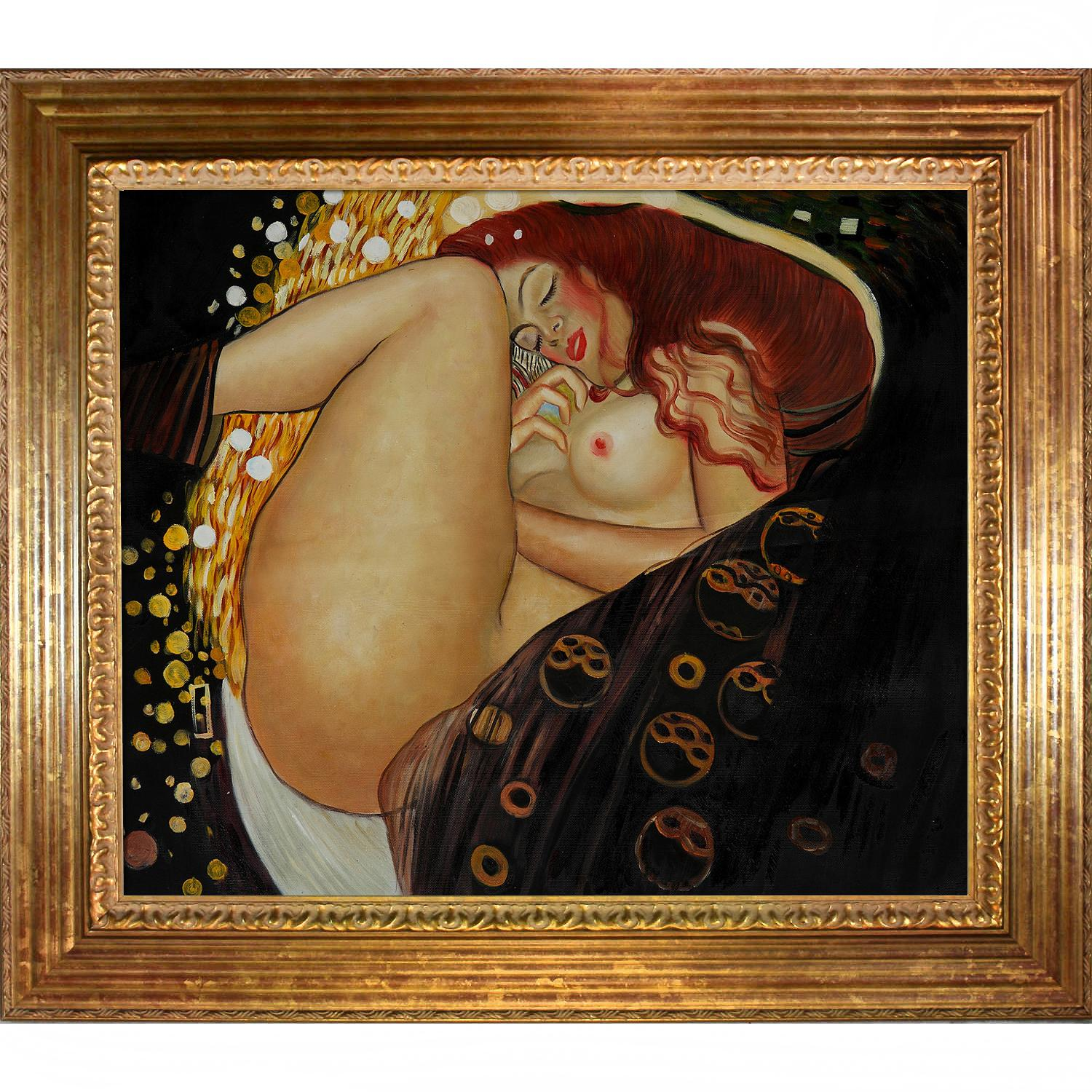 Gustav klimt 39 danae 39 framed hand painted canvas art for Gustav klimt original paintings for sale