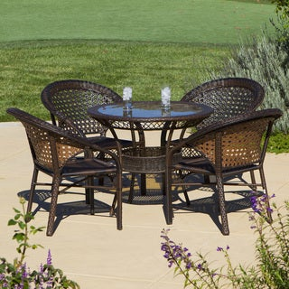 Christopher Knight Home Outdoor 5-piece Wicker Dining Bistro Table Set