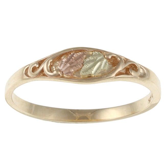 Black Hills High Polish Gold Ring