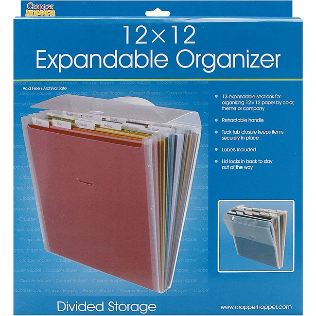 Cropper Hopper Expandable Paper Organizer (12 x 12)