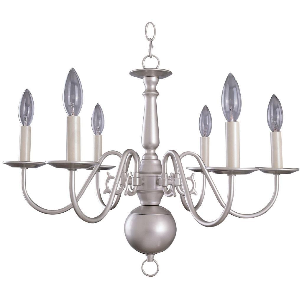 Williamsburg 6-light Silver Chandelier