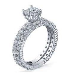 18k White Gold 2 1/10ct TDW Diamond Bridal Ring Set (G-H, SI1-SI2)