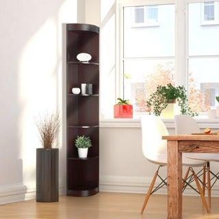 Furniture of America Corner 5-shelf Display Stand