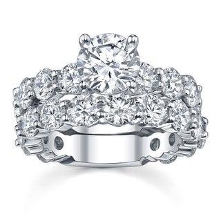 18k White Gold 7 3/4ct TDW Diamond Bridal Ring Set (G-H, SI1-SI2)