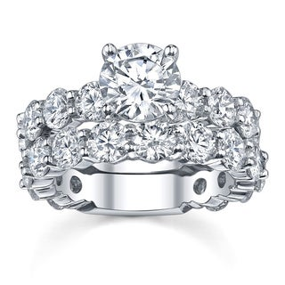 18k White Gold 7 3/4ct TDW Diamond Bridal Ring Set (G-H, SI1-SI2)