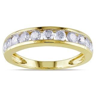 Miadora Certified 14k Gold 1ct TDW Diamond Anniversary Ring (G-H, SI1)
