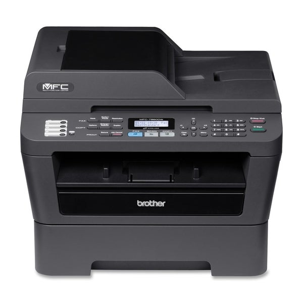 Brother MFC-7860DW Laser Multifunction Printer - Monochrome - Plain P