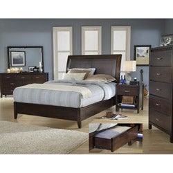 Cushioned Back Full-size 4 Drawer Wood Storage Bed