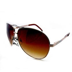 SWG Unisex 6203 Gold and Amber Aviator Sunglasses