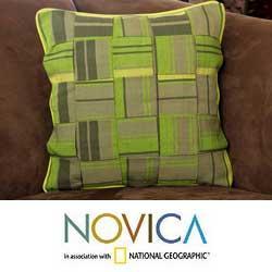 Cotton 'Lemon Weave' Cushion Cover (Guatemala)