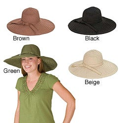 Grossgrain Ribbon Packable Crushable Travel Sun Hat (China)