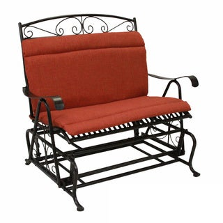 Blazing Needles Solid All-weather Outdoor Double Glider Chair Cushion