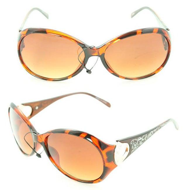 Women's 91008 Brown Python Fashion Sunglasses