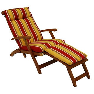 UV-Resistant All-Weather Outdoor Steamer Deck Lounger Cushion