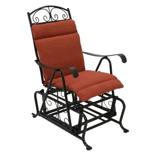 Blazing Needles Solid All-weather Outdoor Single Glider Chair Cushion