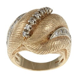 Pre-owned 14k Yellow Gold 1/5ct TDW Diamond Scrolled Estate Ring (I-J, SI1-SI2)
