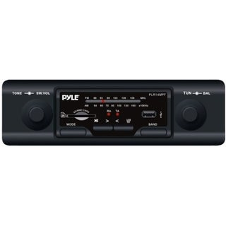 Pyle PLR14MPF Marine Flash Audio Player - 160 W RMS - Single DIN - Bl