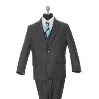 Ferrecci Boy's Dark Grey 3-piece Suit