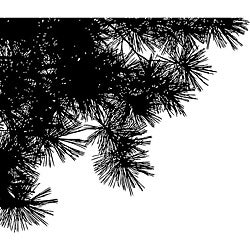 Penny Black 'Pine Silhouettes' Wood-mounted Rubber Stamp
