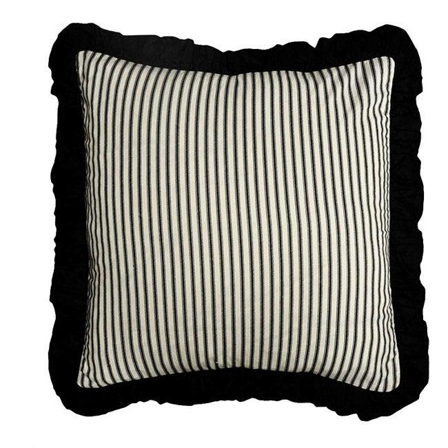 Black Ticking Pillow