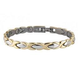 Sabona Lady Executive Dress 18-k Gold Duet Magnetic Bracelet