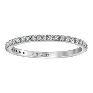 Beverly Hills Charm 14k Gold 1/3ct TDW Round-Cut Diamond Eternity Wedding Band (H-I, I2-I3)