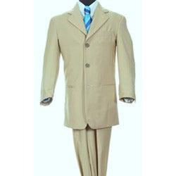 Ferrecci Boy's Beige Three-button Two-piece Suit