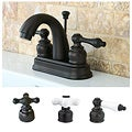 Oil Rubbed Bronze Classic Double-handle Bathroom Faucet