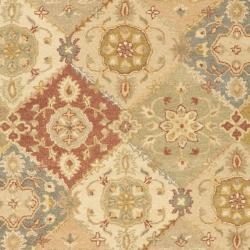 Safavieh Handmade Antiquities Bakhtieri Multi/ Beige Wool Rug (7'6 x 9'6)