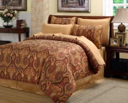 Hyde 8-piece Bed-in-a-bag with Scroll-patterned Cotton Sheet Set