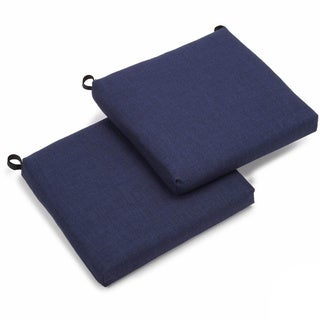 Blazing Needles Solid All-weather UV-resistant Outdoor Chair Cushions (Set of 2)