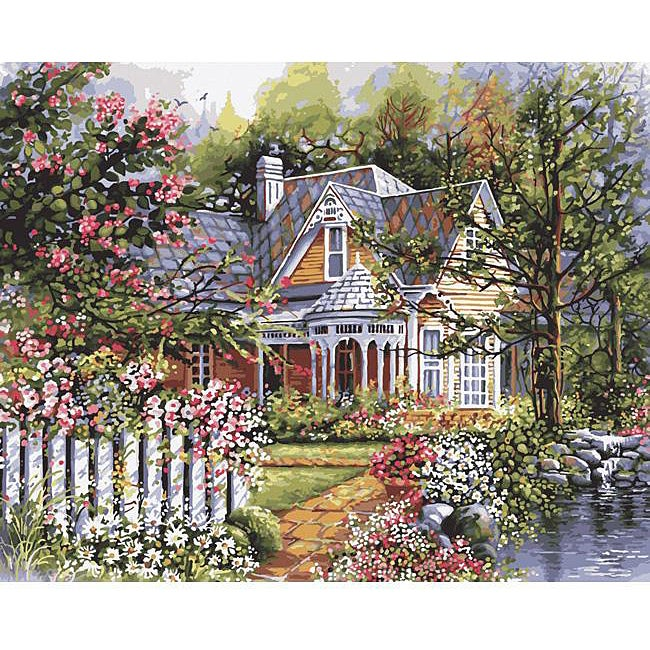 Paint By Number 'Victorian Garden' Kit