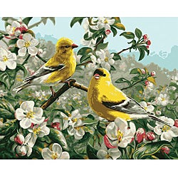 Paint By Number 'Goldfinches' Kit