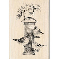 Inkadinkado Birds Feeder Rubber Stamp