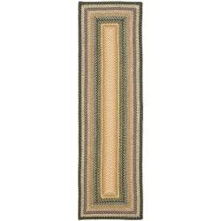 Safavieh Handwoven Indoor/Outdoor Reversible Multicolor Braided Area Rug (2'3 x 12')