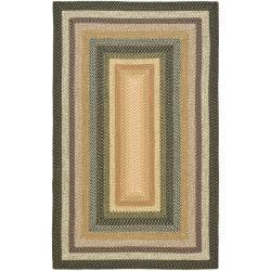 Safavieh Hand-woven Indoor/Outdoor Reversible Multicolor Braided Rug (6' x 9')