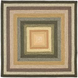 Safavieh Hand-woven Indoor/Outdoor Reversible Multicolor Braided Rug (6' Square)
