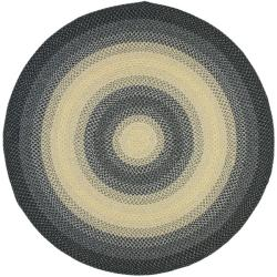 Safavieh Hand-woven Reversible Multicolor Braided Rug (6' Round)