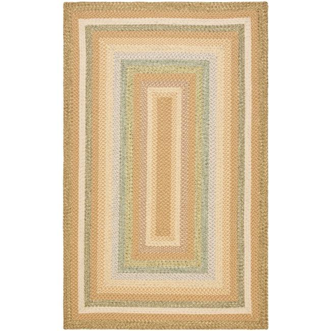 Safavieh Hand-woven Country Living Reversible Tan Braided Rug (8' x 10')