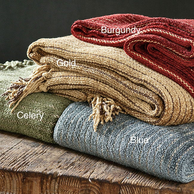 Luxury Heavyweight Chenille Stripe Throw