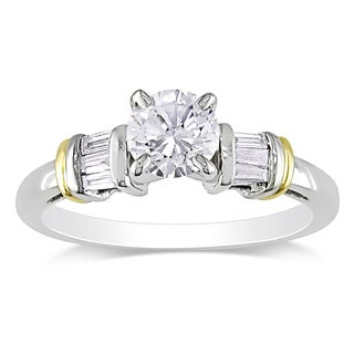 Miadora 14k Two-tone Gold 3/4ct TDW Diamond Engagement Ring (G-H, I1-I2)