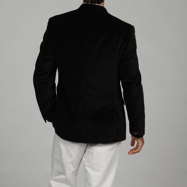 Adolfo Men's Black 2-button Velvet Sport Coat