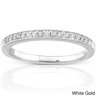 Annello 14k Gold 1/10ct TDW Diamond Wedding Band (H-I, I1-I2)