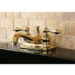 Restoration Polished Brass 4-inch Center Bathroom Faucet