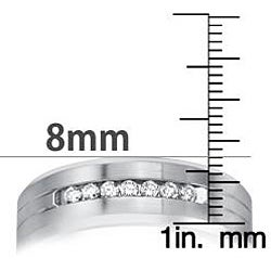 Cobalt Men's 1/5ct TDW Diamond Comfort Fit Band (H-I, I2)