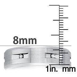 Cobalt Men's 1/6ct TDW Diamond Comfort Fit Band (H-I, I2)