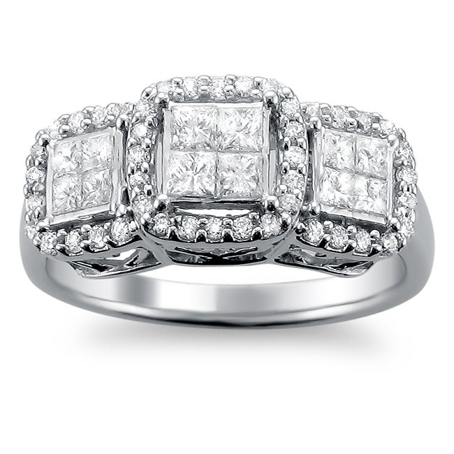 14k White Gold 1ct TDW Princess Diamond Engagement Ring (H-I, I1-I2)