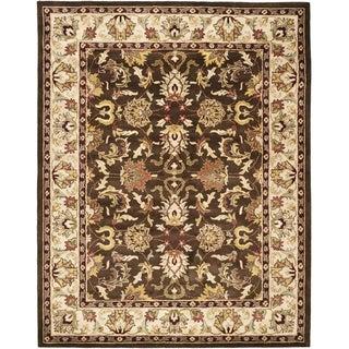 Safavieh Handmade Heritage Exquisite Brown/ Ivory Wool Rug (7'6 x 9'6)